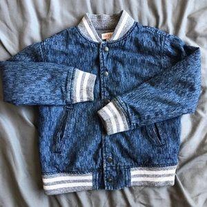 Boys Denim Varsity Jacket